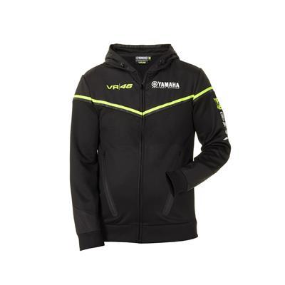 VR46 Black Line — męska bluza z kapturem Yamaha