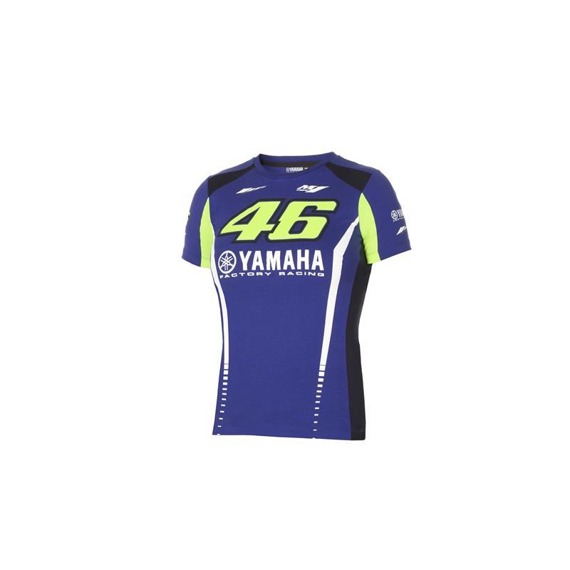T-skjorte med Rossi- og Yamaha-logoer