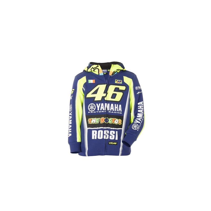 Sweat à capuche enfant VR46 - Yamaha