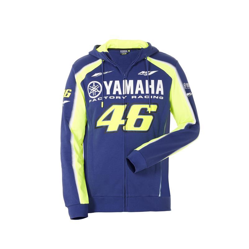 VR46 - Felpa con cappuccio uomo Yamaha