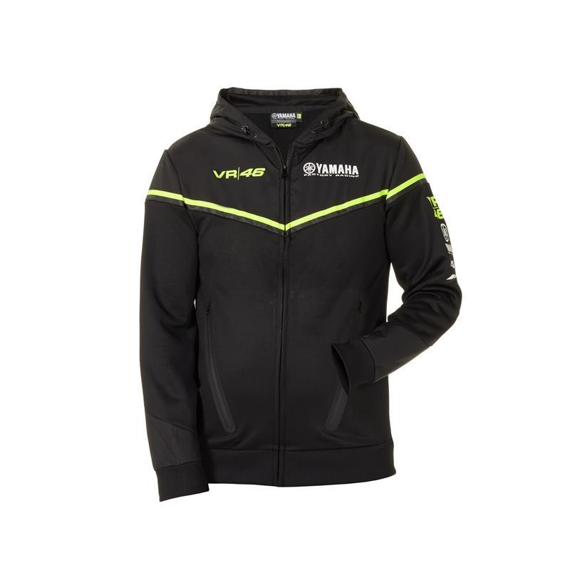 Črna ponudba VR46 – Yamahin moški pulover s kapuco