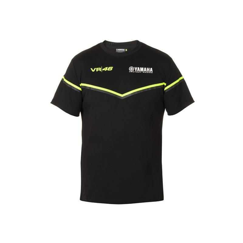 VR46 Black Line - Yamaha Men T-shirt