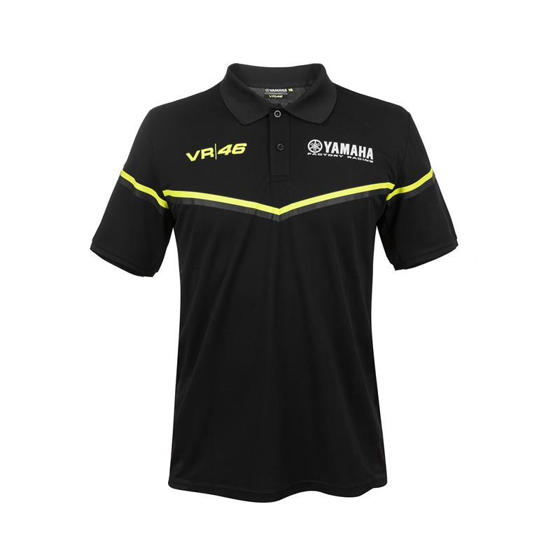 VR46 Black Line -Yamaha Men's Polo