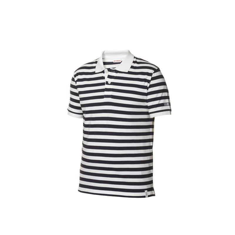 Casual stribet marine polo