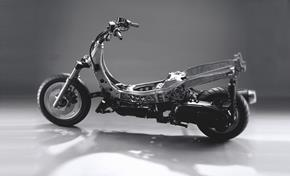 For comparison: Majesty 400 frame with typical scooter layout