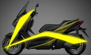 2017_XMAX300_Scooters_Body proportions and design motif on sketch from 236-703914 (gc_single_col)