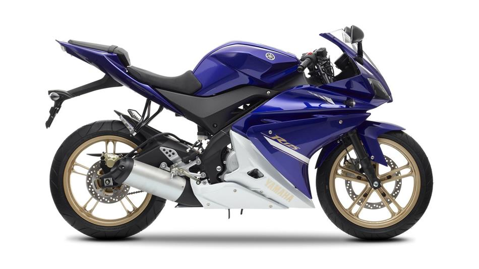 2014 yamaha yzf r125 front view blue car interior design. Black Bedroom Furniture Sets. Home Design Ideas