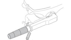 Barra guida robusta con pratico acceleratore a manopola