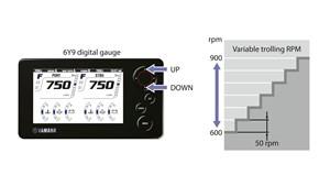 Telecomando elettronico '-by-wire' acceleratore / cambio marcia e il controllo regime di traina RPM