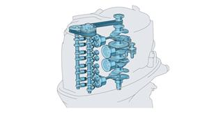 2,8 liter 4-cylindrig 16-ventilers med dubbla överliggande kamaxlar och EFI