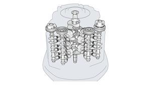 4,2-liters 60º V6-motor med 24 ventiler och DOHC, EFI och VCT
