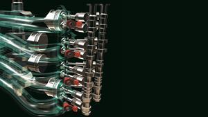 Moteur quatre cylindres en ligne à double arbre à cames en tête et 16soupapes