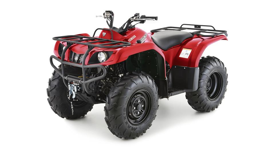 Red Yamaha Grizzly