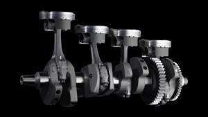 Motor de 200 PS cu arbore cotit cu manetoane decalate la 90°, dezvoltat pe baza modelului M1