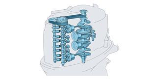 Firesylindret motor på 2,8liter med DOHC, 16 ventiler og EFI