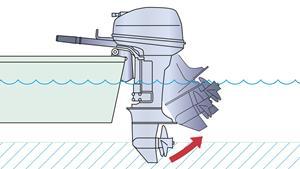 Sistema para la navegación en aguas poco profundas