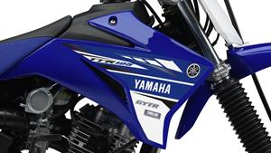 Light and tough YZ-inspired racing-blue bodywork