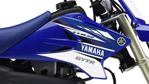 YZ-inspired racing-blue bodywork