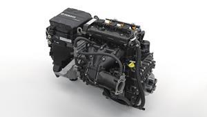 1049-kuutioinen 3-sylinterinen TR-1 High Output -moottori