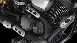 V-Twin Motor mit Benzineinspritzung