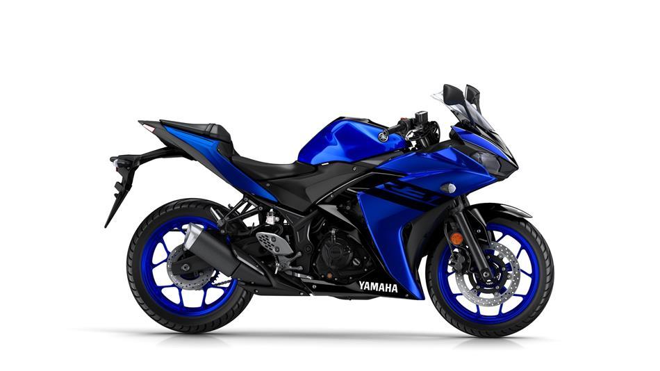 Blue Yamaha Yzf R