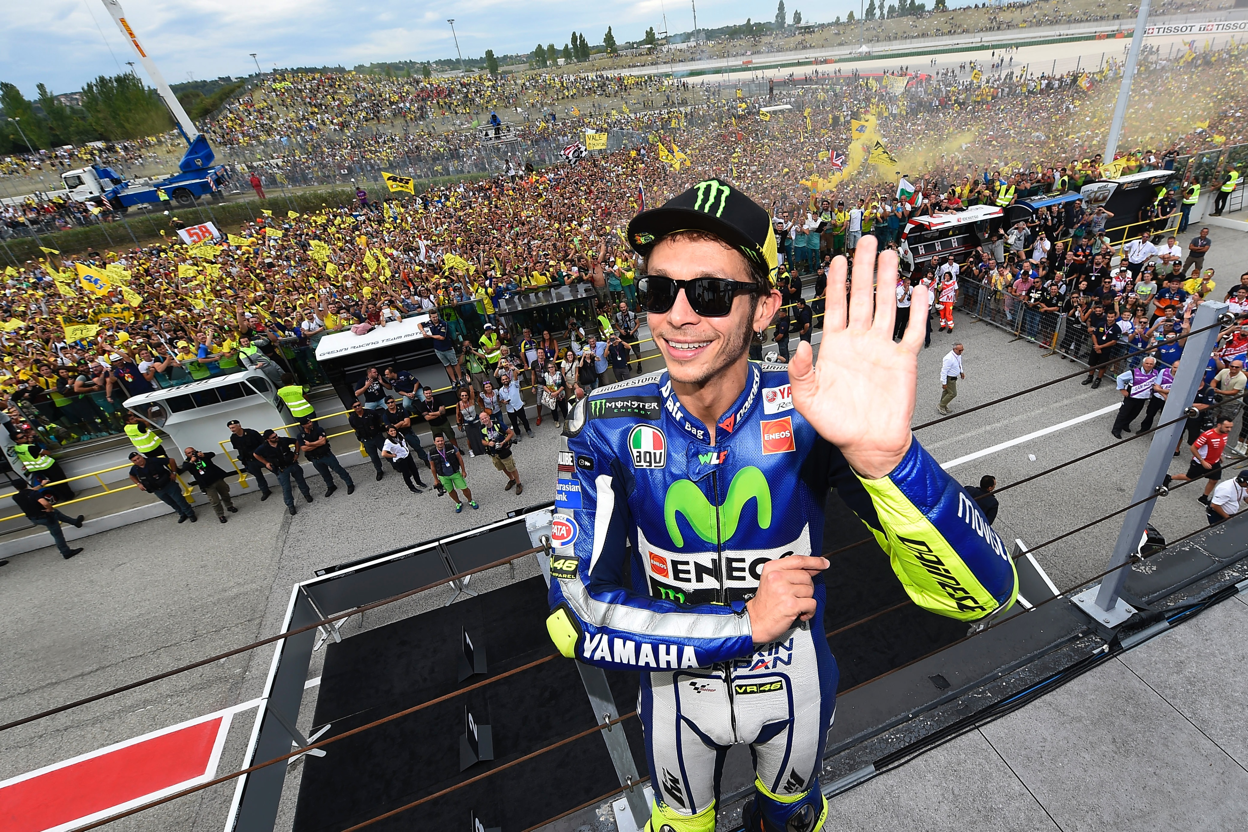 Rossi Takes Fifth in Misano Mania - Yamaha Racing